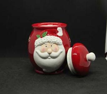 Посуда новогодняя тематика сахарница Дед Мороз 375мл 7938-6