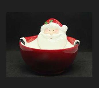 Посуда новогодняя тематика Салатник Дед Мороз 16х7см 7938-9