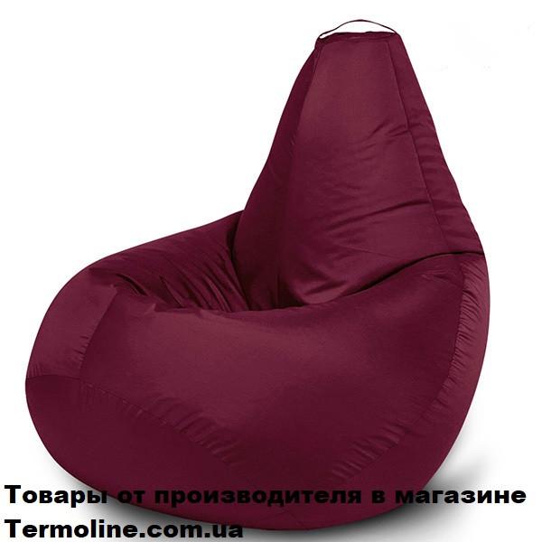Кресло груша Jolly-L 90см детская бордо