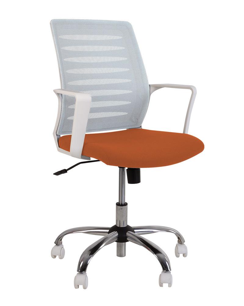 Кресло Webstar GTP white механизм Tilt крестовина CHR61 спинка сетка OH-1, сиденье C-76 (Новый Стиль ТМ)