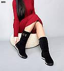 Зимові жіночі чорні дутики, натуральна замша 36 37 ОСТАННІ РОЗМІРИ, фото 4