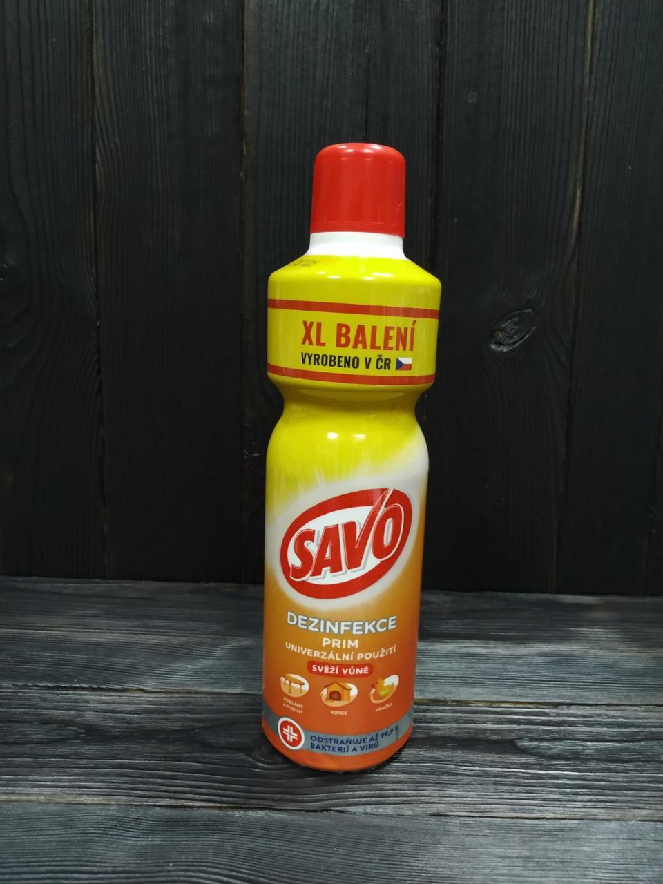 Savo Жидкое дезинфицирующее и чистящее средство Fresh scent 1,2 л