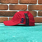 Кепка Бейсболка Мужская Женская Polo Ralph Lauren 3 с тканевым ремешком Красная с большим Синим лого, фото 2