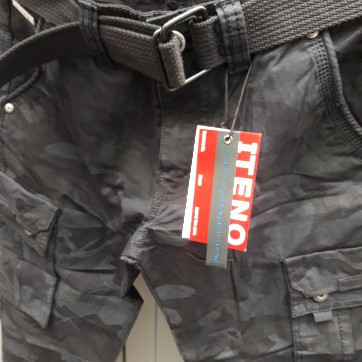 Джинсы мужские ITENO (Tophero) оригинал р.33 Камуфляж чёрные весна / осень (есть другие цвета)