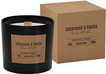 Аромасвеча кедровое дерево и ваниль в подарочной упаковке 10 см (sn100-81п)