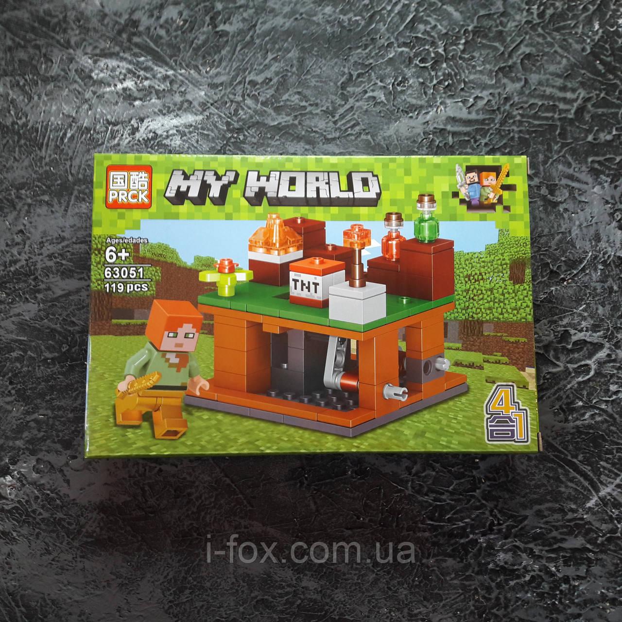 Конструктор Minecraft с механизмом и ТНТ 138 деталей