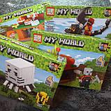Конструктор Minecraft всадник на драконе края 138 деталей, фото 4
