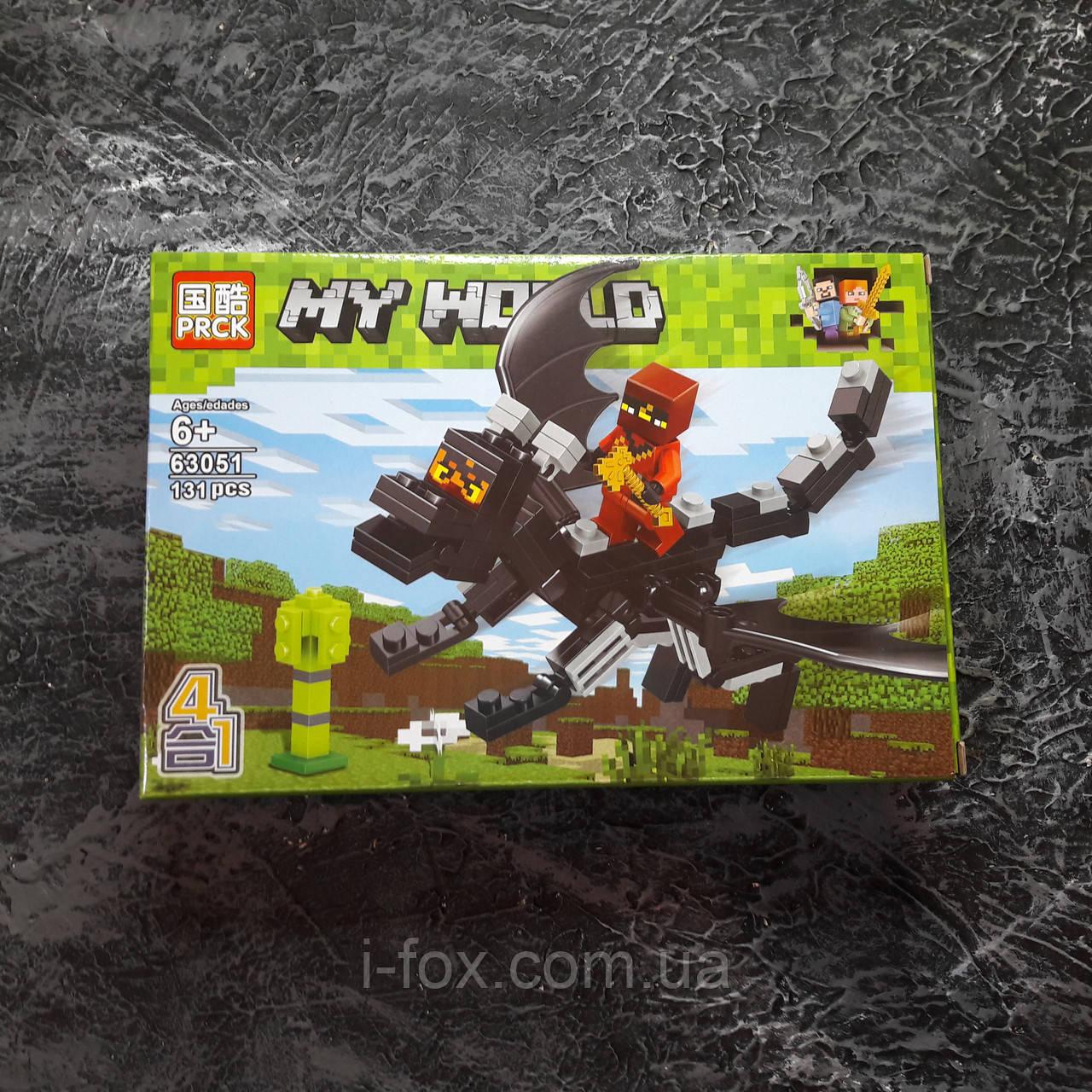 Конструктор Minecraft всадник на драконе края 138 деталей