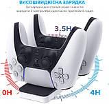 Подвійна Зарядна Док-станція DOBE для PlayStation 5 PS5 DualSense Плейстейшн, фото 2