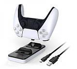 Двойная Зарядная Док-станция DOBE для PlayStation 5 PS5 DualSense Плейстейшн, фото 6