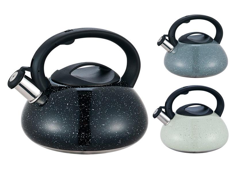 Цельнолитой чайник для плиты с цветным покрытием Maestro 3л