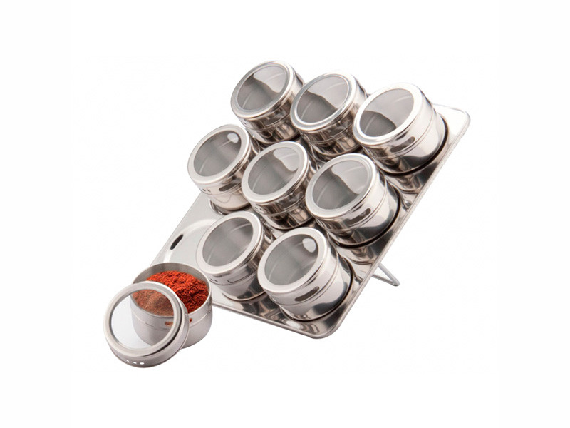 Баночки для специй на магнитной подставке Peterhof 10пр