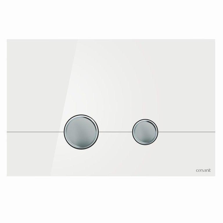 Кнопка слива STERO белое стекло