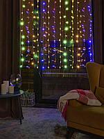 Гірлянда Водоспад (Штора) 1.5х1.5м 120LED RGB (різні кольори), фото 1