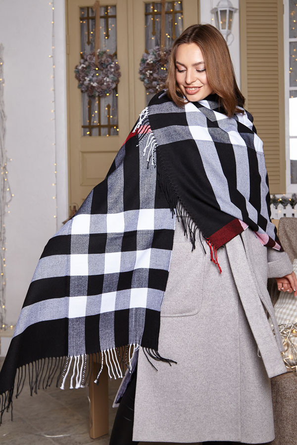 Жіноча тепла кашемірова шаль - палантин брендового забарвлення.