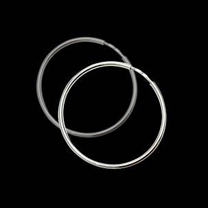 Серебряные серьги-кольца (Конго), d-75мм, фото 2