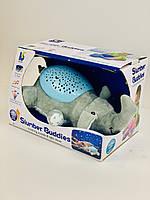 Детский ночник проектор с музыкой в виде игрушки Слона. Ночник. Детская игрушка. Ночник Слон.