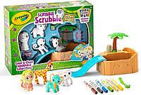 Набор для творчества Crayola Scribble Scrubbie Раскрашиваемые питомцы с ванной Сафари Safari Крайола от 3 лет