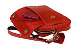 Женская кожаная сумка клатч кроссбоди. Сумка жіноча натуральна шкіра, фото 5