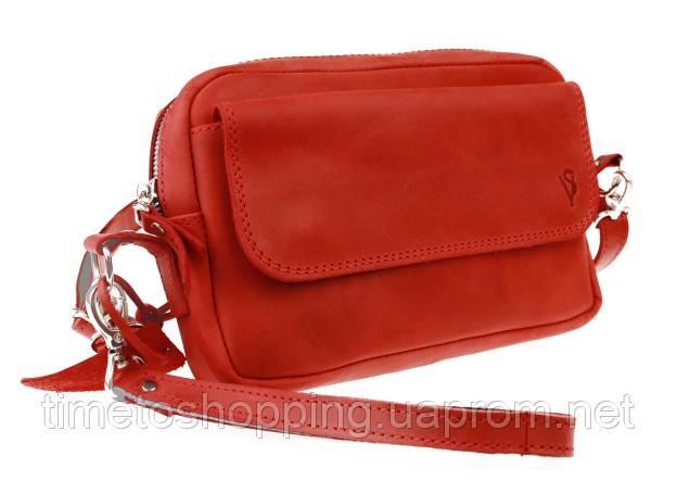 Женская кожаная сумка клатч кроссбоди. Сумка жіноча натуральна шкіра
