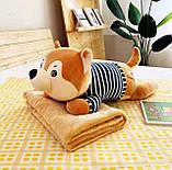 Плед детский + игрушка хаски и подушка 3в1, фото 2