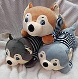 Плед детский + игрушка хаски и подушка 3в1, фото 5