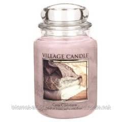 Арома свеча Village Candle Уютный кашемир (время горения до 170 ч)