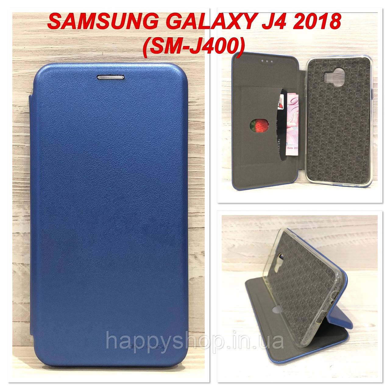 Чехол-книжка G-Case для Samsung Galaxy J4 2018 (J400) Синий