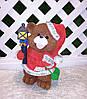 Новогодняя садовая фигура Медведи в красных костюмах с фонарями, фото 4