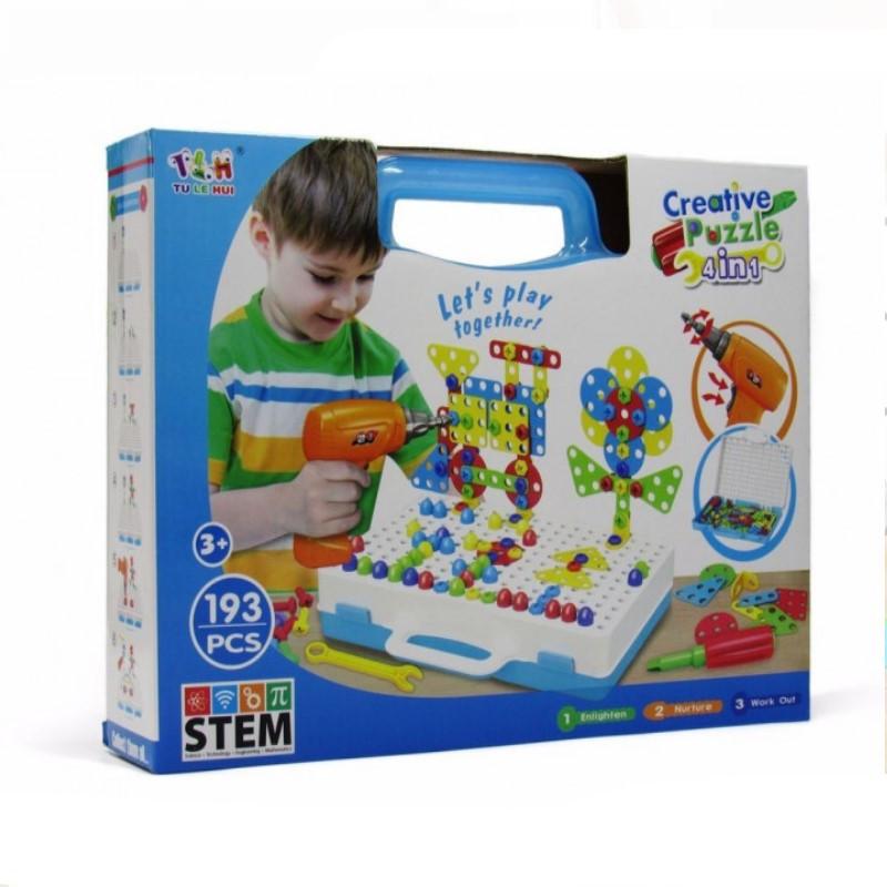 "Конструктор Tu Le Hui ""Creative Puzzle"" 4в1 чемодан (193 детали) TLH-28"