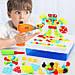 """Детский развивающий конструктор Tu Le Hui """"Puzzle Peg"""" чемодан (224 детали) TLH-29, фото 3"""