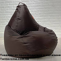 Кресло груша Jolly-XL 100см коричневое, фото 1