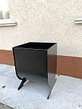 Урна, мусорный бак, для улицы №5, черная, фото 4