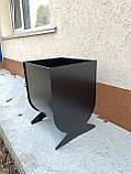 Урна, мусорный бак, для улицы №5, черная, фото 5