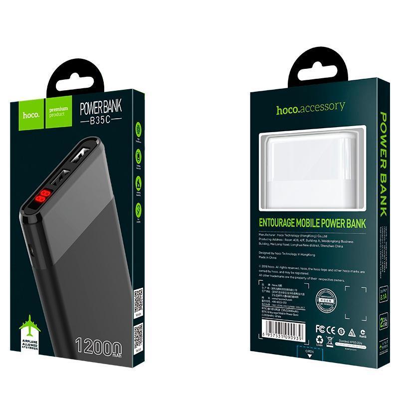 Дополнительная батарея Hoco B35С Entourag (12000mAh) Black