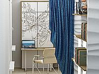 Откидная шкаф-кровать с фотопечатью, столом и полками, фото 1