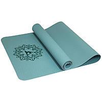 Коврик для фитнеса/ йоги SportVida TPE 173х61х0.4 см
