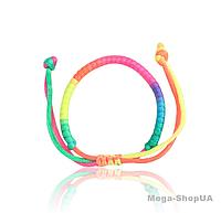 """Браслет плетеный текстиль """"Rainbow"""". Браслет плетеный регулируемый, плетеный браслет,  браслети на руку D432Z, фото 1"""