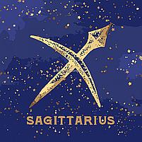 Картина по номерам Идейка «Знаки зодиака» Стрелец с краской металлик 50х50 см (КН9523), фото 4