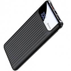 Додаткова батарея Baseus Thin QC3.0 M+T Dual input Digital LCD (10000mAh) Black (PPYZ-C01)