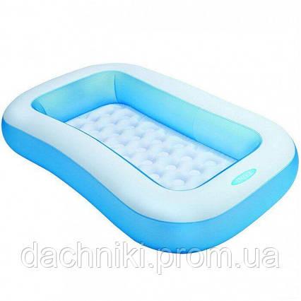 Надувной детский бассейн Intex размером 166х100х28 см, объёмом 90 л, весом 1,8 кг, от 2-х лет, фото 2