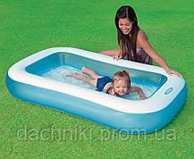 Надувной детский бассейн Intex размером 166х100х28 см, объёмом 90 л, весом 1,8 кг, от 2-х лет, фото 3