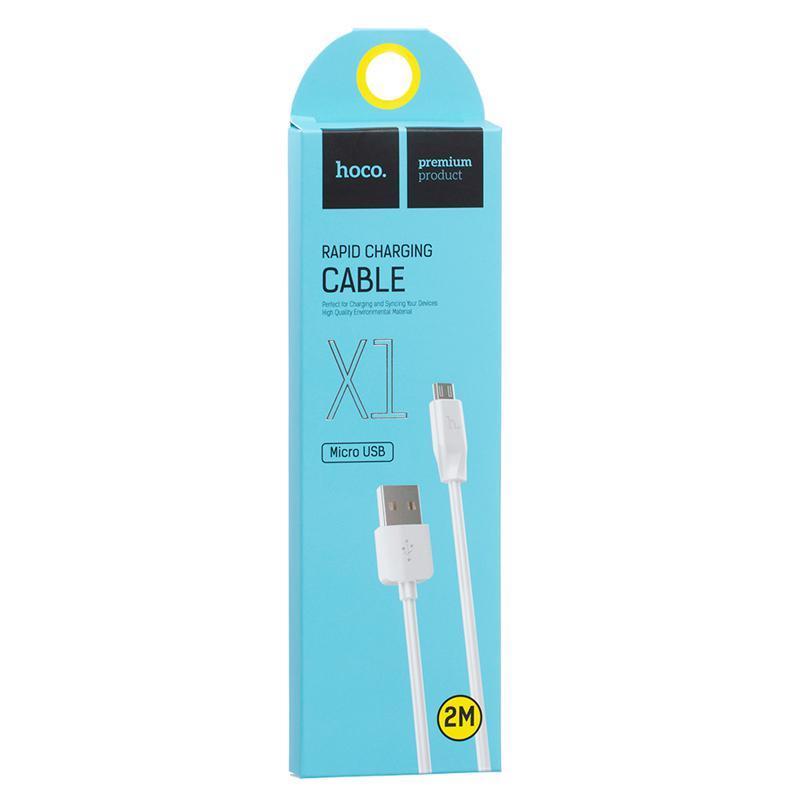 USB Cable Hoco X1 Rapid MicroUSB 2m White