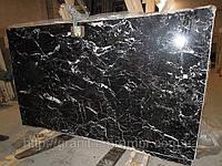 Мраморная плитка черная black pearl, фото 1