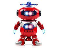 Танцующий светящийся интерактивный робот танцор детский Dancing Robot Красный