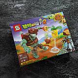 "Растения против зомби набор конструктора Plants Zombies ""Набор из 4 штук"" 4в1, фото 2"