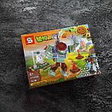 "Растения против зомби набор конструктора Plants Zombies ""Набор из 4 штук"" 4в1, фото 4"