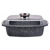 Гусятница керамическая с крышкой Edenberg EB-4601 утятница с мраморным покрытием 32 см 4,5 л