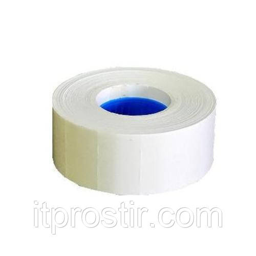 Етикет-стрічка 22 х 12 біла, прямокутна, фото 1