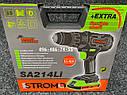 Аккумуляторный ударный шуруповерт Stromo SA214Li 21 вольт, фото 8